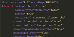 """phpunit Warning """"The attribute 'syntaxCheck' is not allowed."""""""